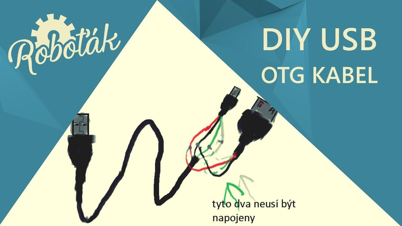DIY USB OTG kabel - Roboťák - YouTube