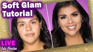 Soft Glam Easy Contour Full Face Makeup Tutorial in Real Time: Medium Tan Skin Live Latina Client