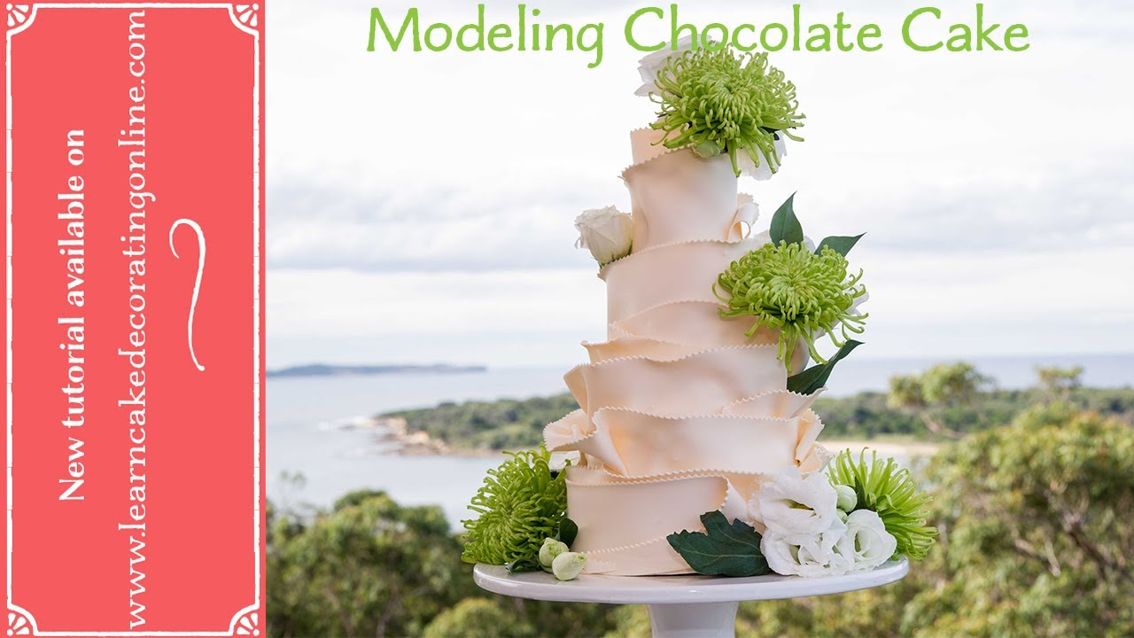 How to make a Modeling Chocolate wedding cake with Learn Cake ...