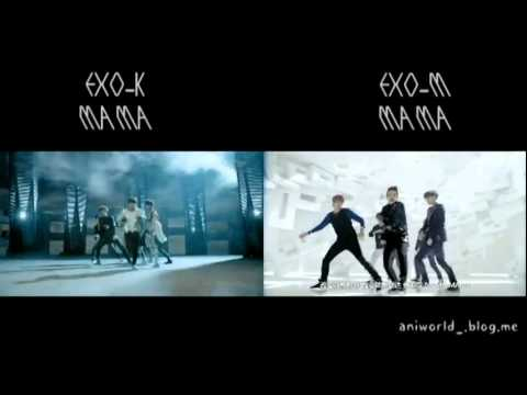 EXO-K & EXO-M - MAMA MIX without intro animation (MAMA Korean Chinese Mix Ver)