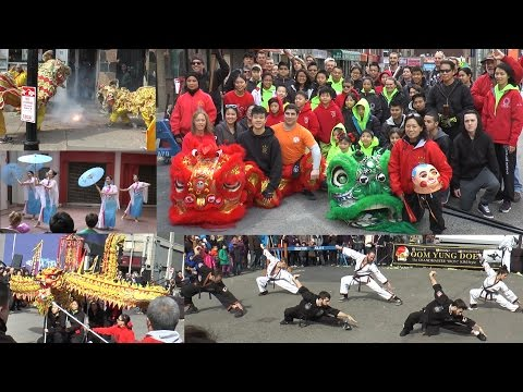 Chinese Lunar New Year 2016 Lion Dance Parade