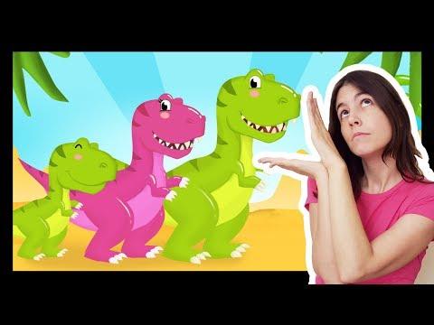 La comptinette du dinosaure - Comptines à gestes pour bébés Titounis
