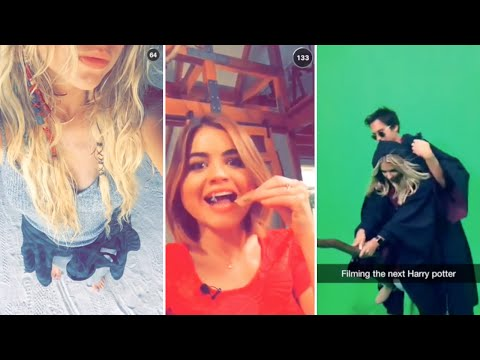 Ashley Benson | Snapchat Videos Compilation (September 2015) (featuring Lucy Hale & Shay Mitchell)