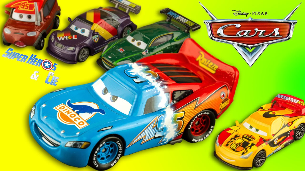 Disney Cars Voitures M 233 Tal Die Cast Flash Mcqueen Dinoco