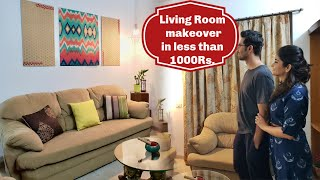 How I gave a Makeover to my Living Room for this Diwali in less than 1000 Rs.| Ft. Disha Mishra