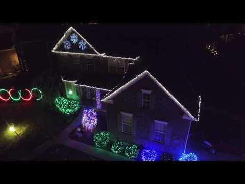 Fisher's Indiana Light Show - Bruno Mars Uptown Funk - Drone