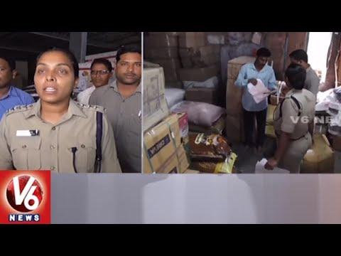 Task Force Police Raids On Friends Transport Company In Godavarikhani | Peddapalli | V6 News