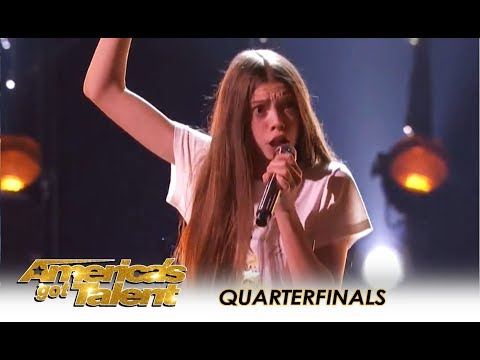 Courtney Hadwin: Shy British Schoolgirl With SHOCKING Talent WOWS! | America's Got Talent 2018
