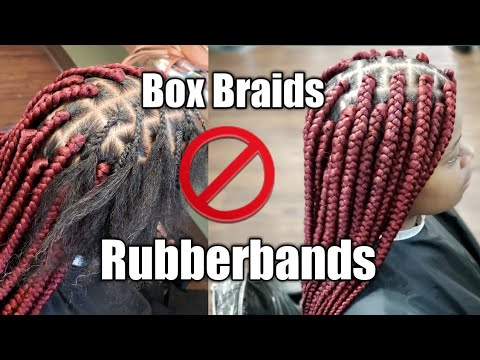 BEGINNER FRIENDLY Medium Box Braids NO RUBBERBANDS