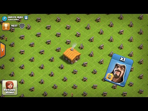 1 Max Wizard + Healers Vs Full Cannon Base Attack On | COC PRIVATE SERVER