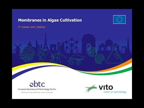 EBTC Webinar on 'Membrane Applications in Algae Harvesting'