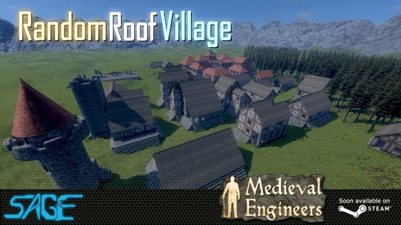 Medieval Engineers, Random Roof Village   YouTube