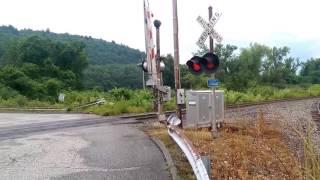 Amtrak P056 Passing Vintage Crossing with WISHBONE gates!