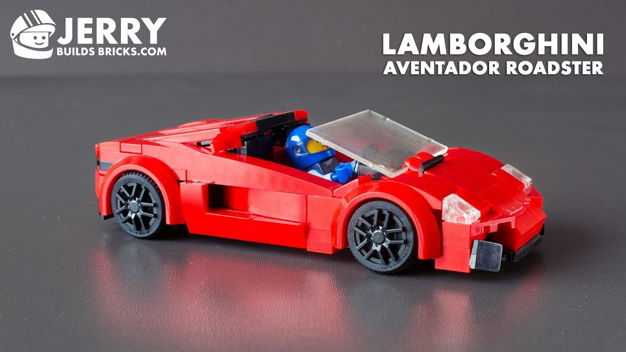 Lego Lamborghini Aventador Roadster Instructions Moc 60 Youtube