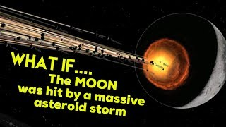 What if....The MOON was hit by a MASSIVE ASTEROID STORM
