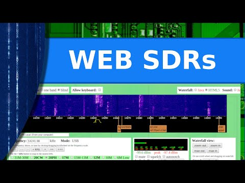 Ham Radio - Viewer Request. - Web Based SDR Radios You Can Listen To For Free.