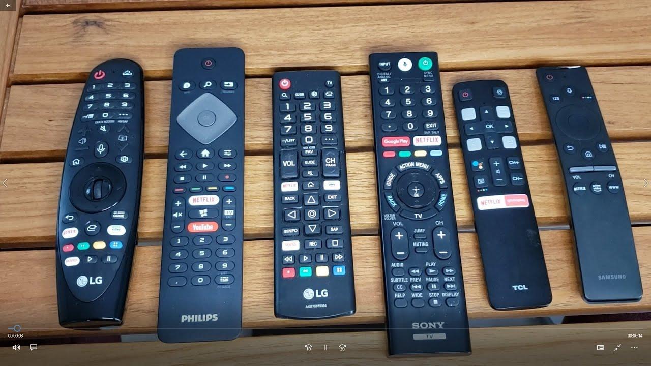 Vejam os controles remotos de várias tvs!  Samsung, LG, Philips, TCL. Qual o melhor?