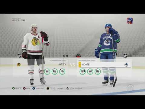 "Vancouver Canucks Franchise Mode #36 ""Blackhawks"" NHL 17"