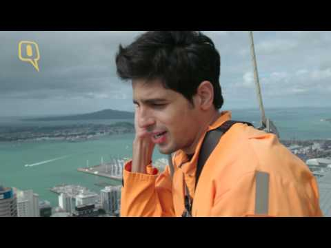Sidharth Malhotra does the sky-walk in Auckland, New Zealand
