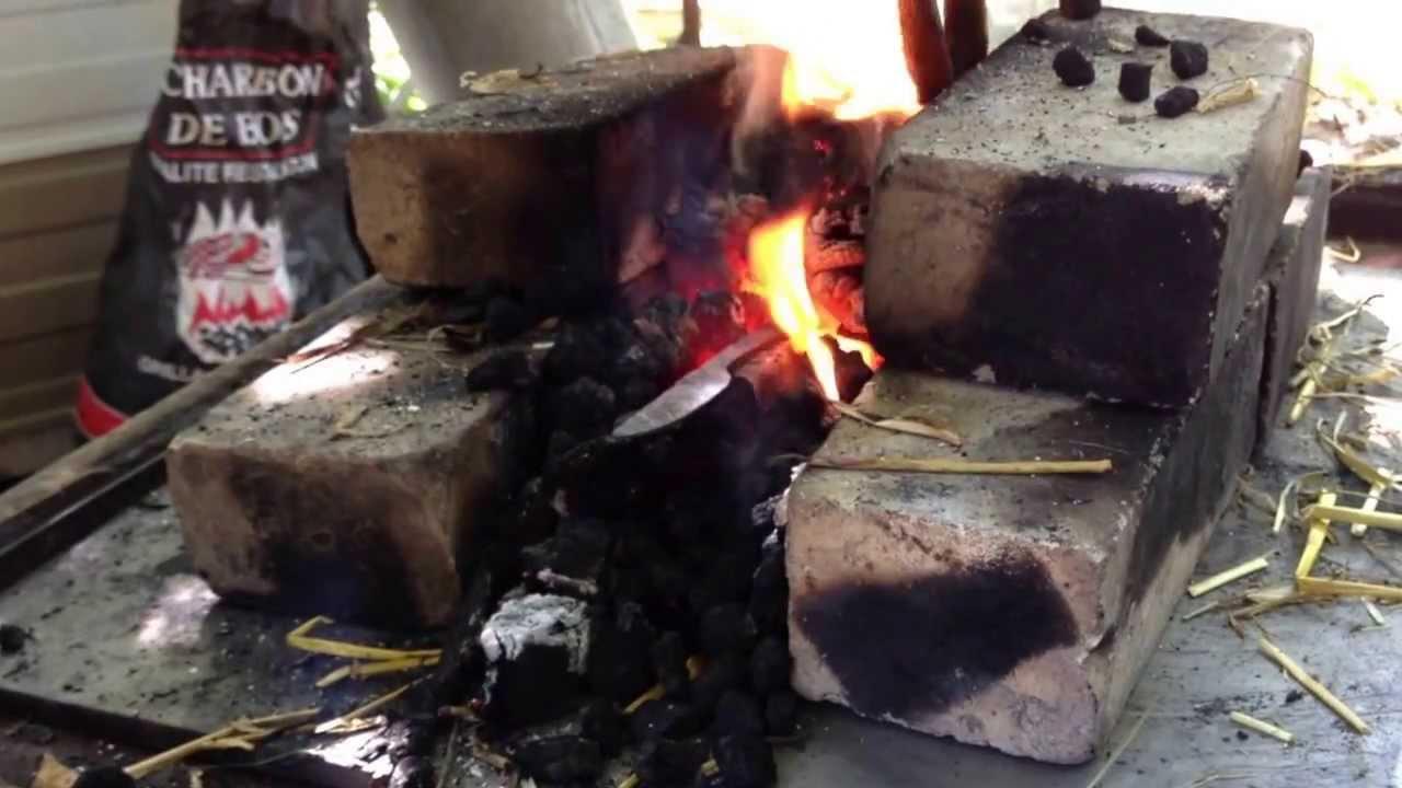 Fabrication d 39 un couteau brut de forge doovi - Comment affuter un couteau ...
