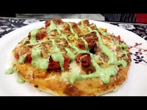 Cheese Burst Pizza Recipe | Dominos Style Tandoori pizza Recipe| Home made mint mayonaisse recipe