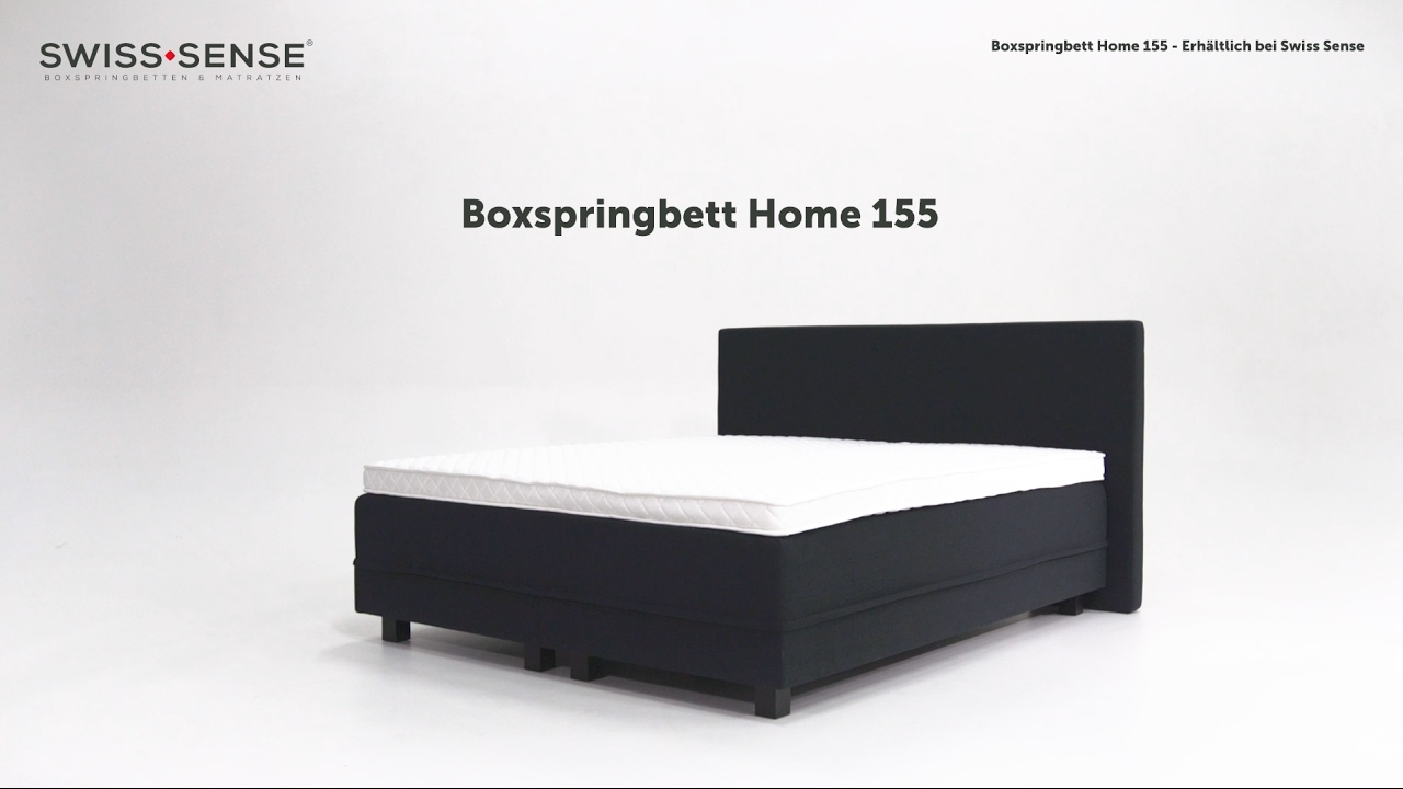 Boxspringbett  Produktvideo Boxspringbett Home 155 | SwissSense.de - YouTube