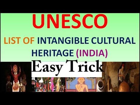 Trick To Remember Intangible Cultural Heritage In UNESCO List
