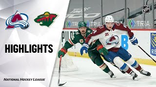Avalanche @ Wild 4/7/21 | NHL Highlights