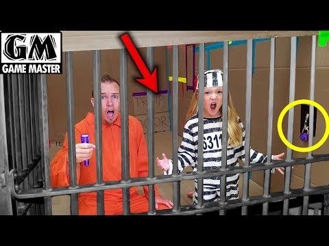 Game Master Locks Us Up in Box Fort Prison for 24 Hours Challenge!