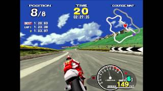 Let's Play (in HD)...Manx TT Superbike (with Secret Character) Arcade Version!