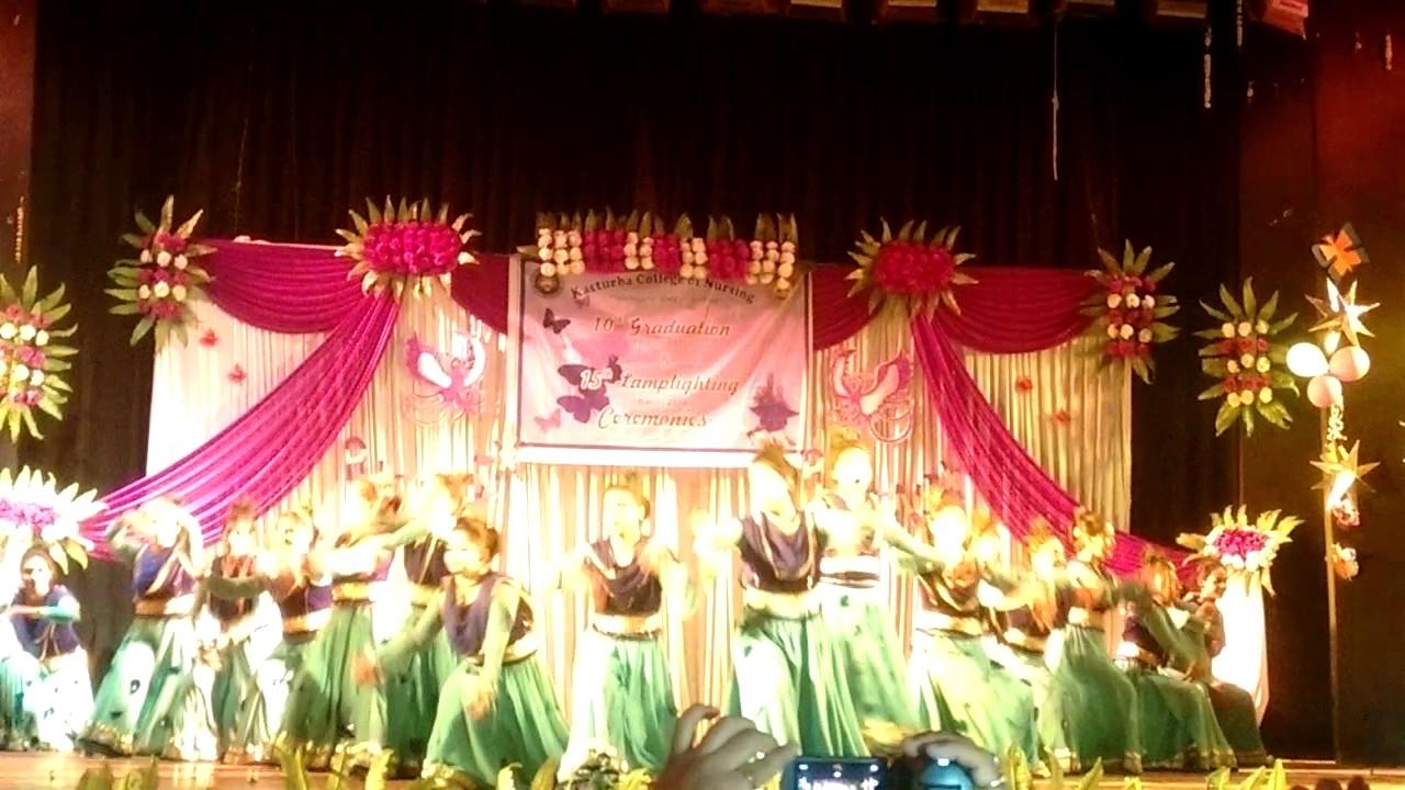 Kasturba college of nursing,Graduation and Lamplighting Ceremony ... for Lamp Lighting Ceremony  111bof