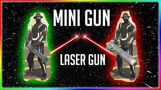 *NEW* WIDOWMAKER VS MINIGUN (EPIC LASER GUN GTA ONLINE)