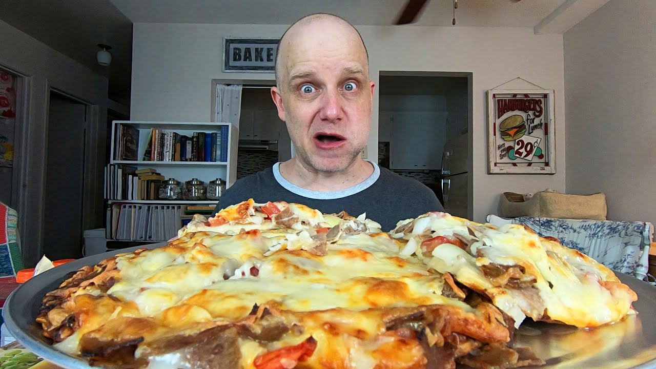 6lb Donair Pizza Challenge Mr Donair Frozen Pizza Youtube