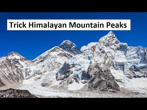 Himalayan Mountain Peaks in the order West to East Trick
