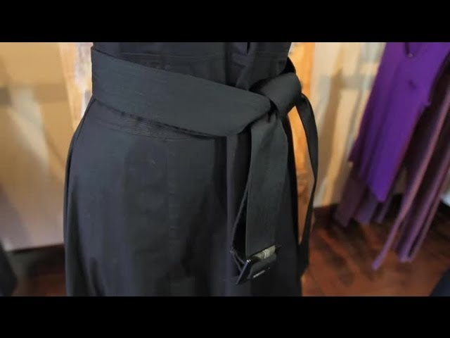 How To Tie A Belt Around A Trench Dress Diva Style Youtube