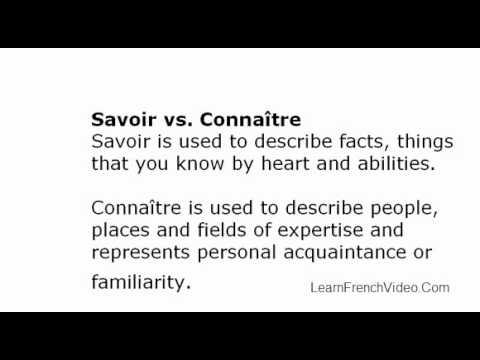 Rencontrer vs connaitre