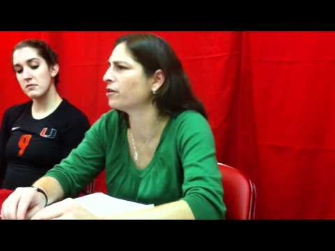 Miami/Indiana Volleyball Postgame Press Conference
