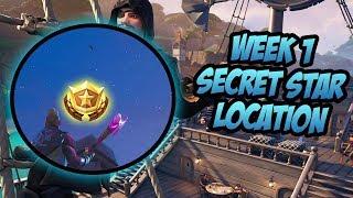 SEASON 8, WEEK 1 | *SECRET* Battle Star Location! (Free Tier) - Fortnite