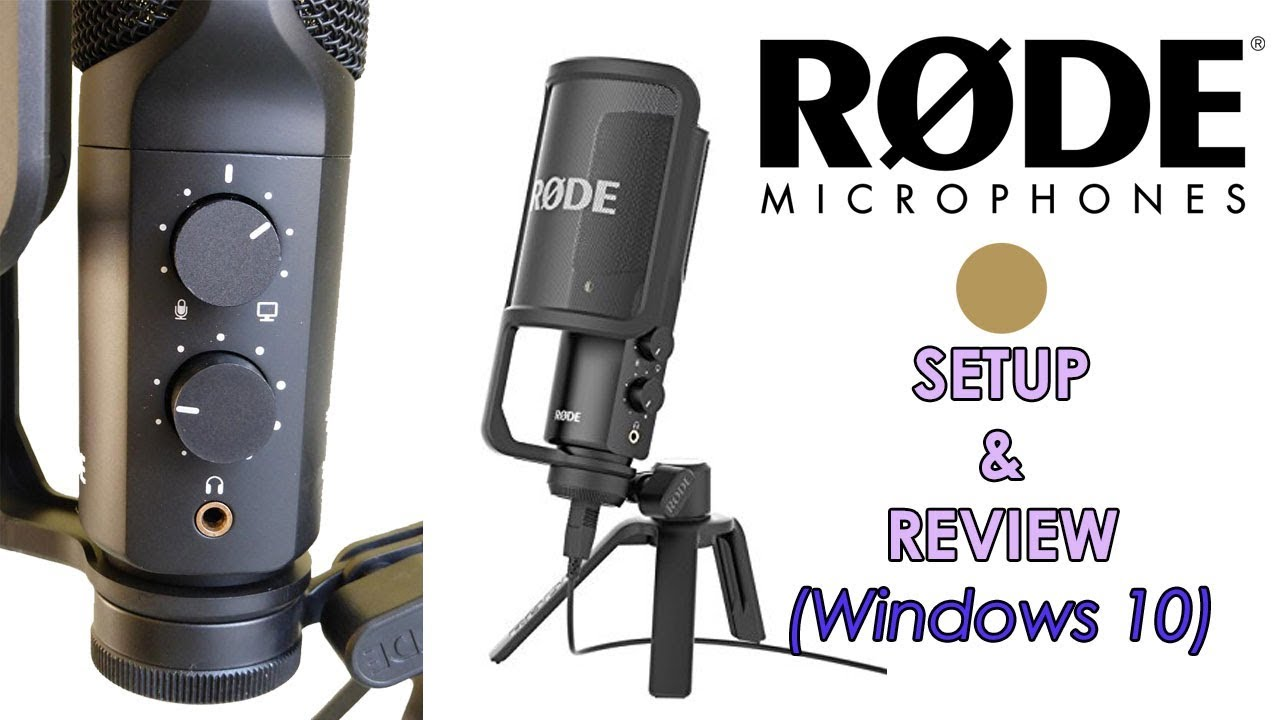 rode nt usb microphone setup review windows 10 fix youtube. Black Bedroom Furniture Sets. Home Design Ideas