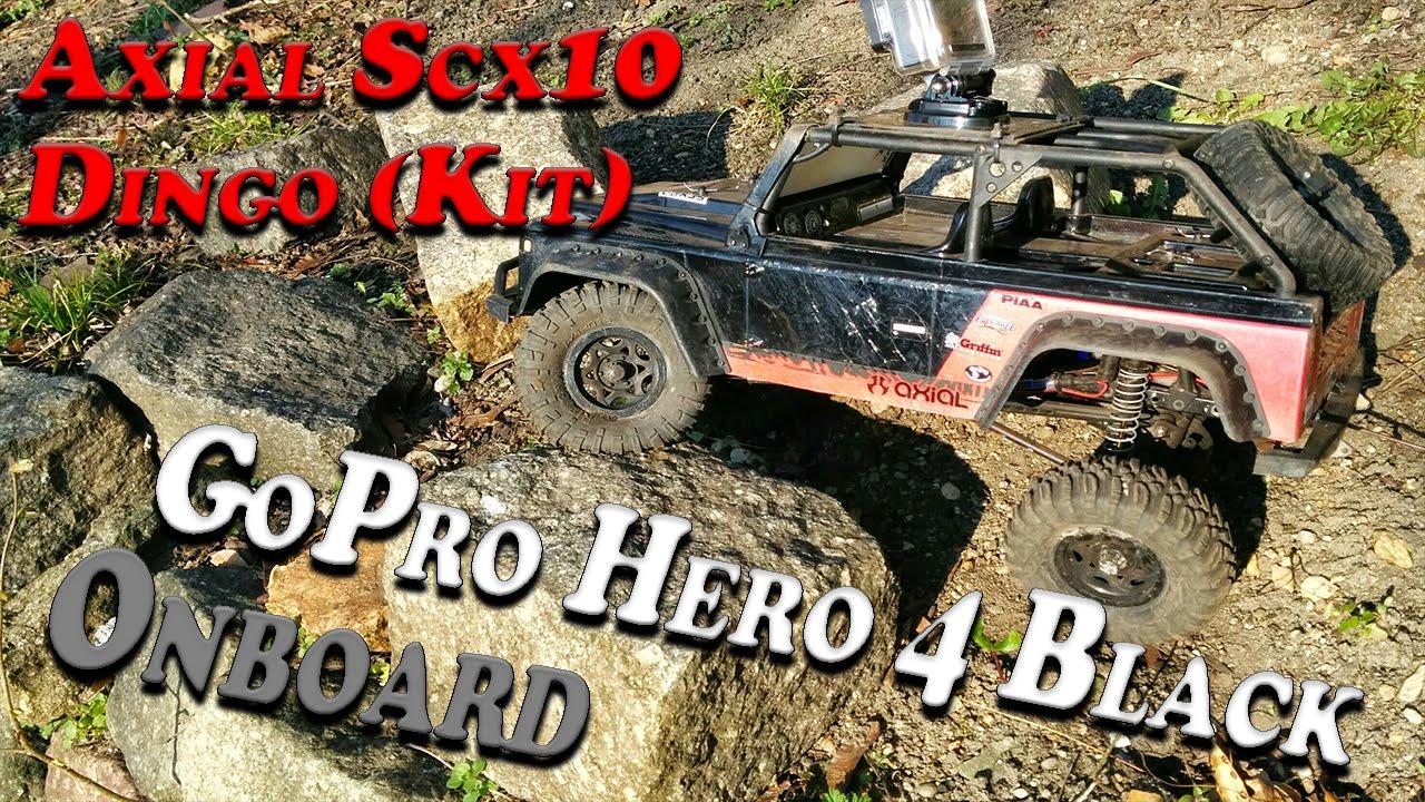 GoPro Hero 4 Black Onboard Axial Scx10 (Dingo kit) - YouTube