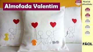Capa para almofada – Valentim (DIY Tutorial)