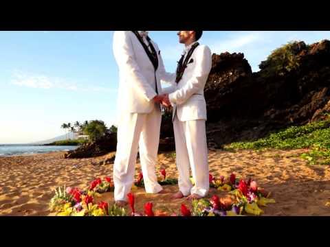 Kyle & Mike - Gay Wedding Highlight - Maui, Hawaii - Dec 2013