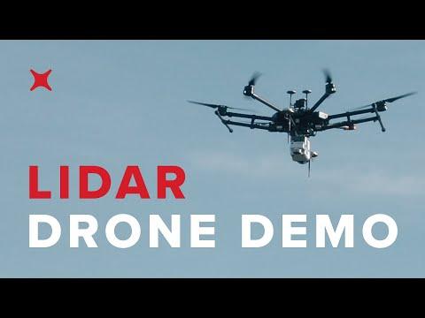 UAV Drone Lidar Sensor Demo