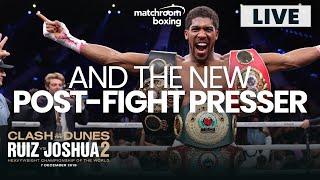 AND THE NEW! Anthony Joshua Post-Fight Press Conference | Ruiz vs Joshua 2