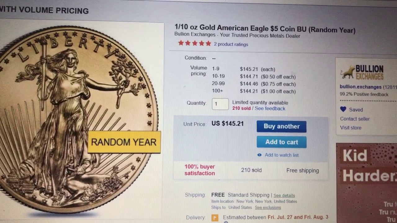 10x Ebay Bucks Some Gold Deals Through 7 21