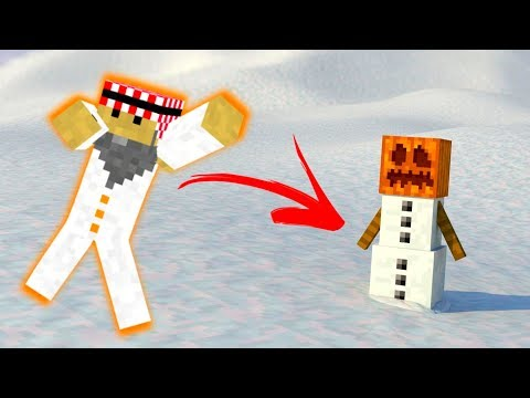 ماين كرافت : مقلب رجل الثلج !!  | 112# Minecraft : d7oomy999
