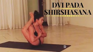 Ashtanga Yoga Intermediate Series Asana Dvi Pada Shirshasana With Krista Shirley