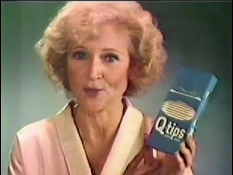 1983 BETTY WHITE Q-Tip ad