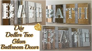 DIY DOLLAR TREE BATHROOM DECOR | GLAM BATH SIGN DECOR | DIY GLAM BATHROOM ON A BUDGET