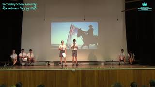 DCIS: Secondary School Assembly - Remembrance Day by 11NB
